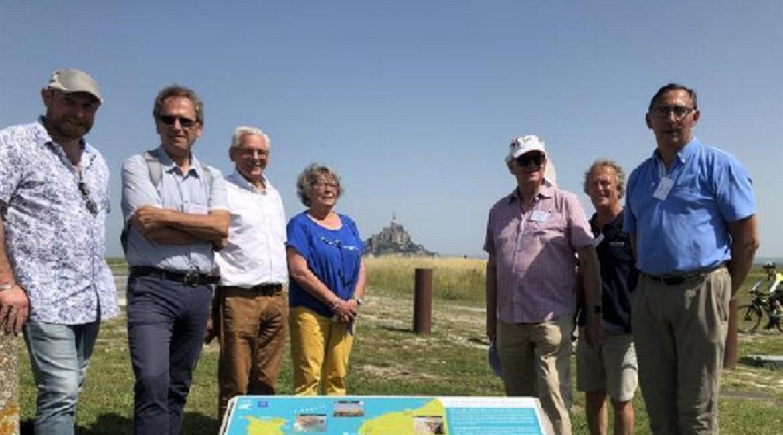 """Inauguration des plaques """"Littoral de Normandie"""" au Mont-Saint-Michel"""